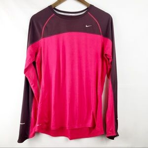 NIKE WOMEN'S RUNNING MILER TOP XL